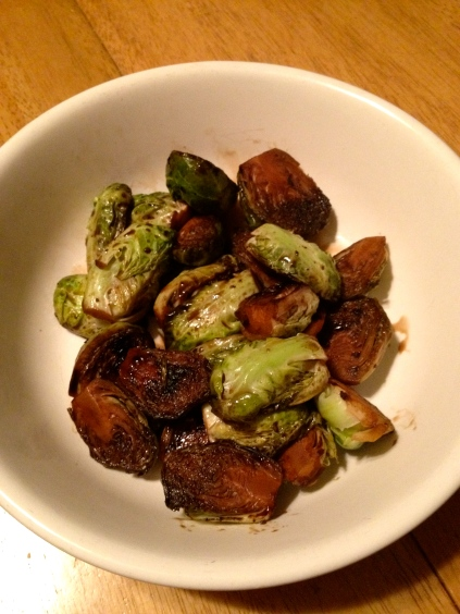 pan roasted brussels