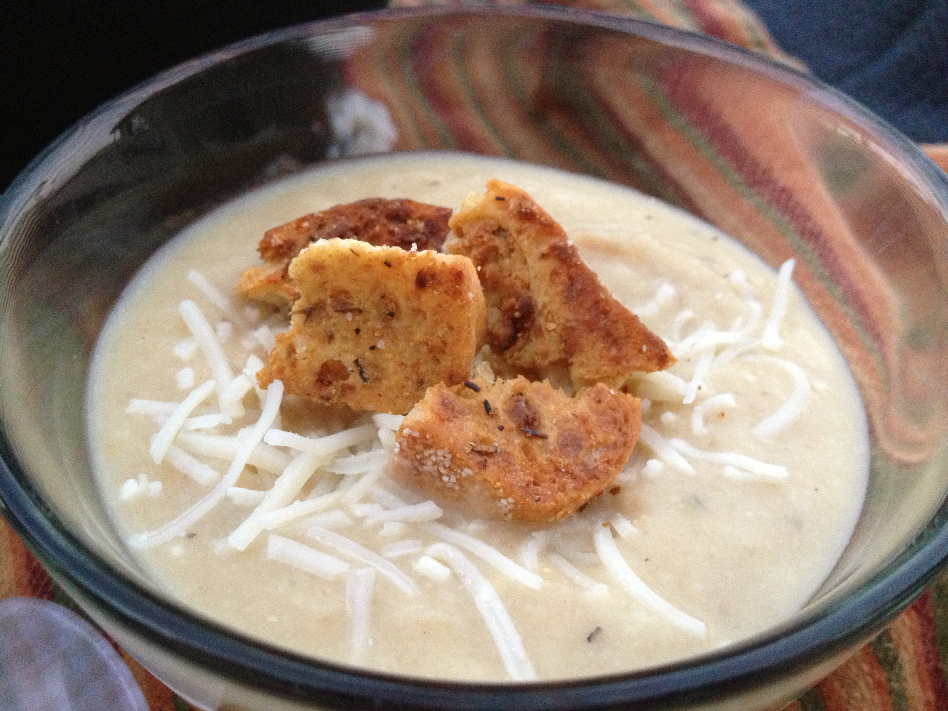 Roasted Cauliflower Soup & Parmesan Dijon Croutons ...