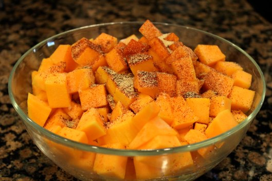 Spiced butternut squash for thanksgiving