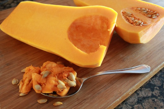 Roasted butternut squash seeds
