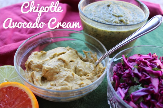 Grilled Fish Tacos with Chipotle Avocado Cream | via Tsiporah Blog