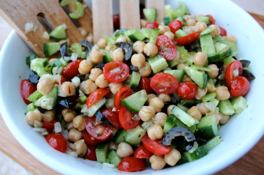 pesto citrus chickpea salad