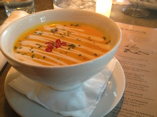 St. Francis Restaurant Review | Pumpkin Soup | via Tsiporah Blog