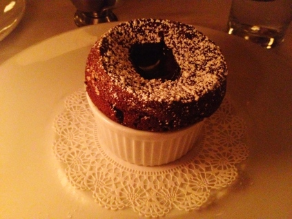 Zinc Bistro Review - Chocolate Souffle | via Tsiporah Blog