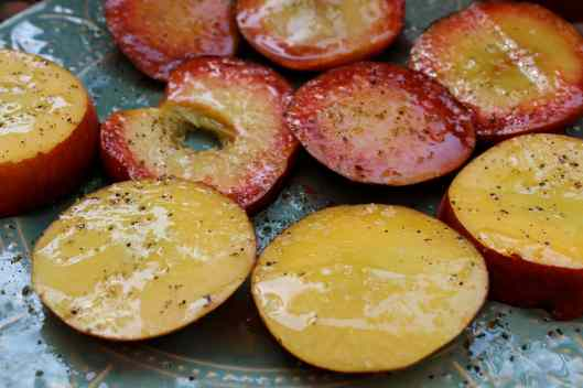 grilled nectarines summer salad