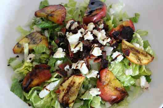 Nectarine, Bacon and Bleu Cheese Salad