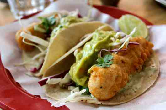 Beer Battered Fish Tacos in Tel Aviv