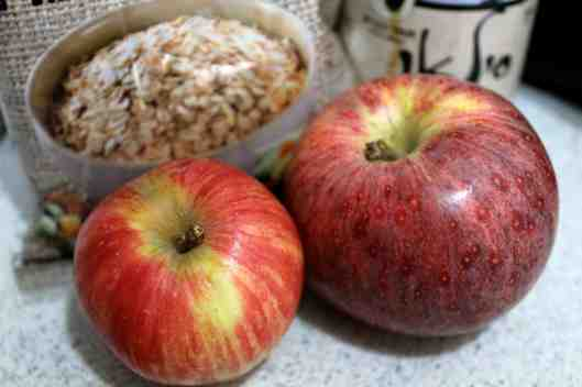 Homemade Apple Cinnamon Oatmeal ingredients