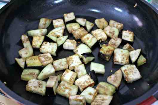 Pan cooked eggplant for Eggplant & Tomato Ragout via Tsiporah Blog
