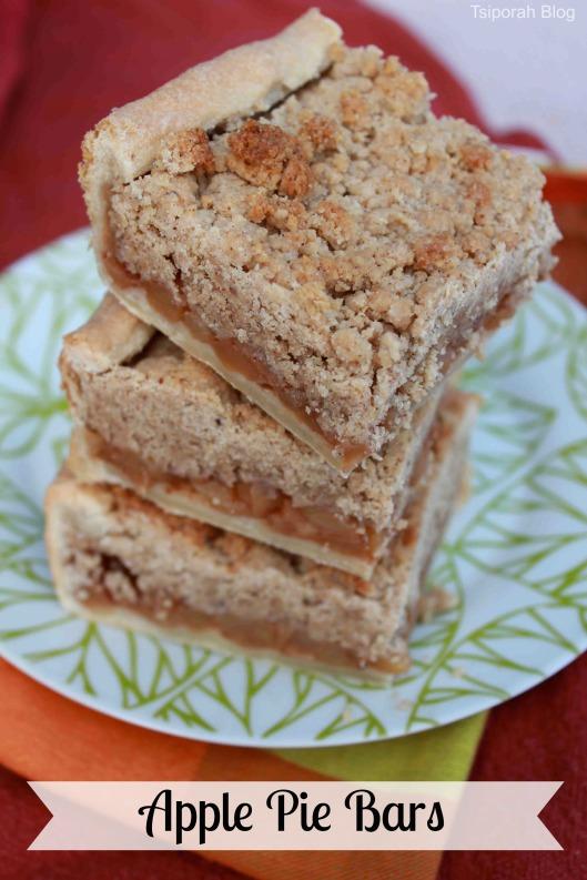 Apple Pie Bars Recipe for Thanksgiving  via Tsiporah Blog