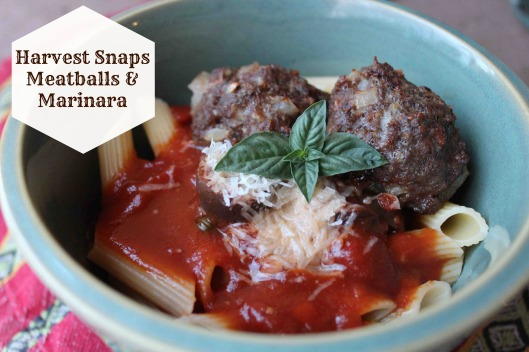 Harvest Snaps Meatballs & Marinara Recipe