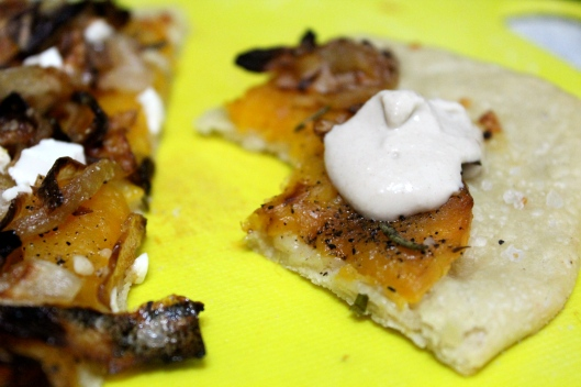 pizza with tahini