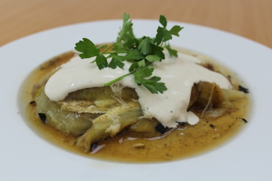 Irit's Smokey Eggplant with Lemon and Tahini // Tsiporah Blog (recipes from Israel)