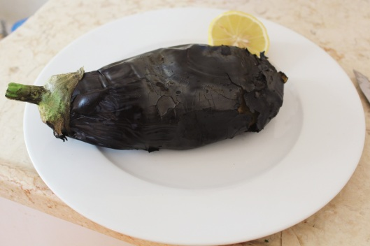 Smokey roasted eggplant