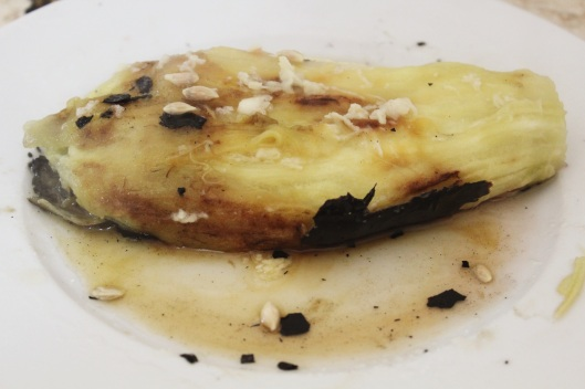 eggplant with garlic and lemon