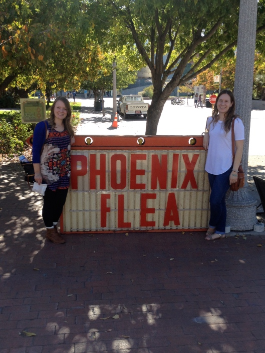 hanging out at Phoenix Flea