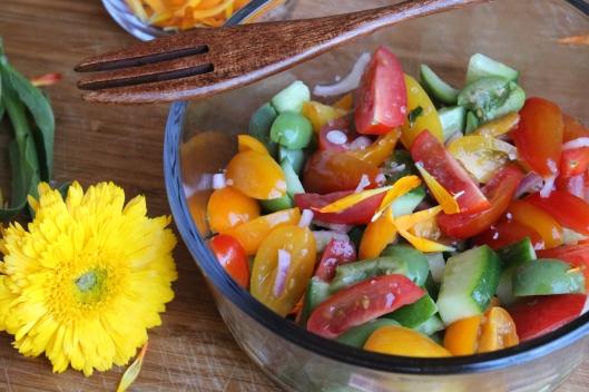 Market Inspired Spring Tomato Salad