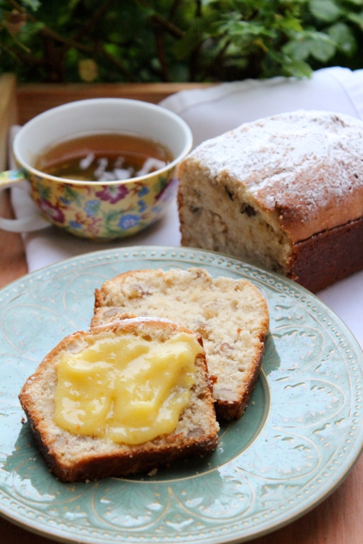 Velvety Bourbon Vanilla Cake with Lemon Curd - Garden Party Recipe via Tsiporah Blog