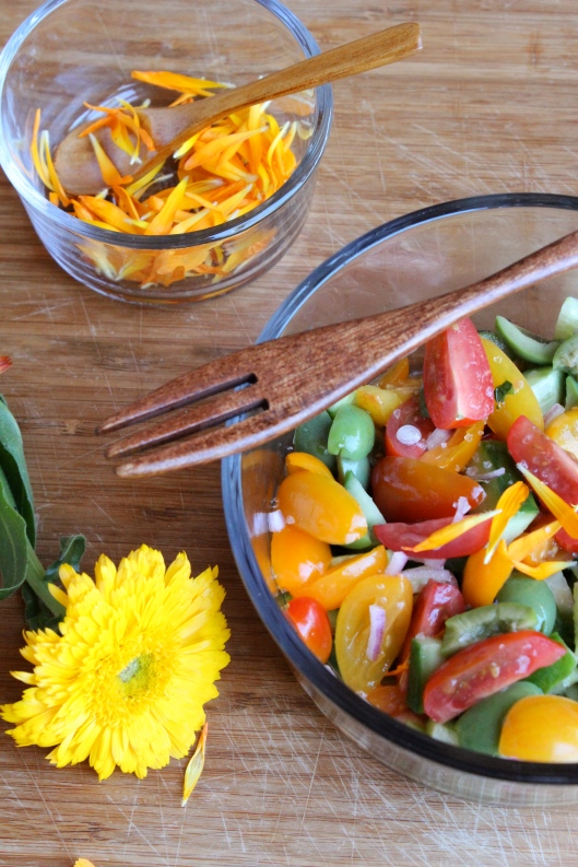 Spring Farmers Market-Inspired Chopped Salad via Tsiporah Blog